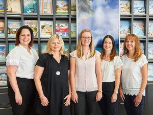 Das Team des Volksbank Reisebüros.